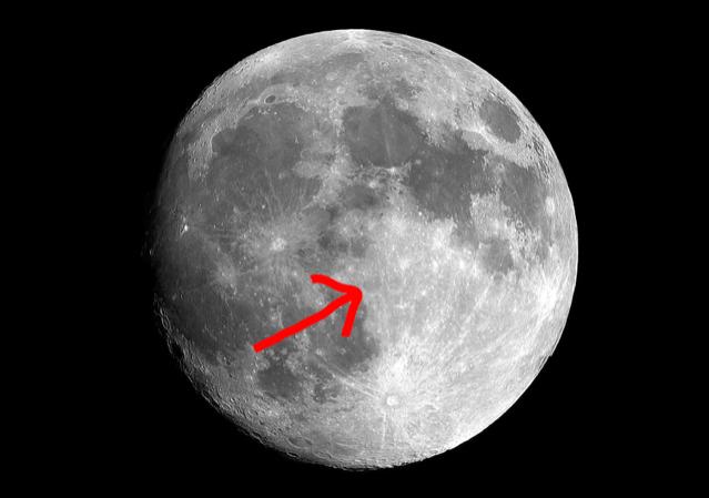 Mond ohne US Flagge