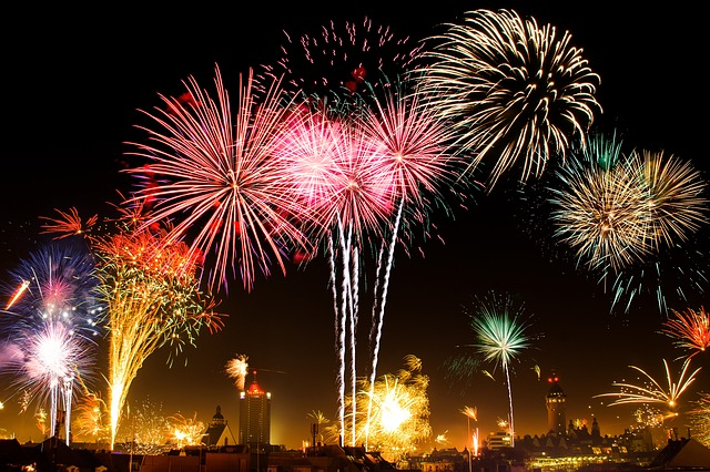 Der Flamingo Feuerwerk