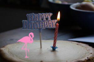 Der Flamingo Geburtstagskuchen